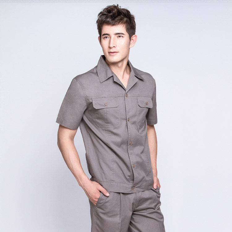 JC01OM1纯棉短袖工作服劳保服(套)