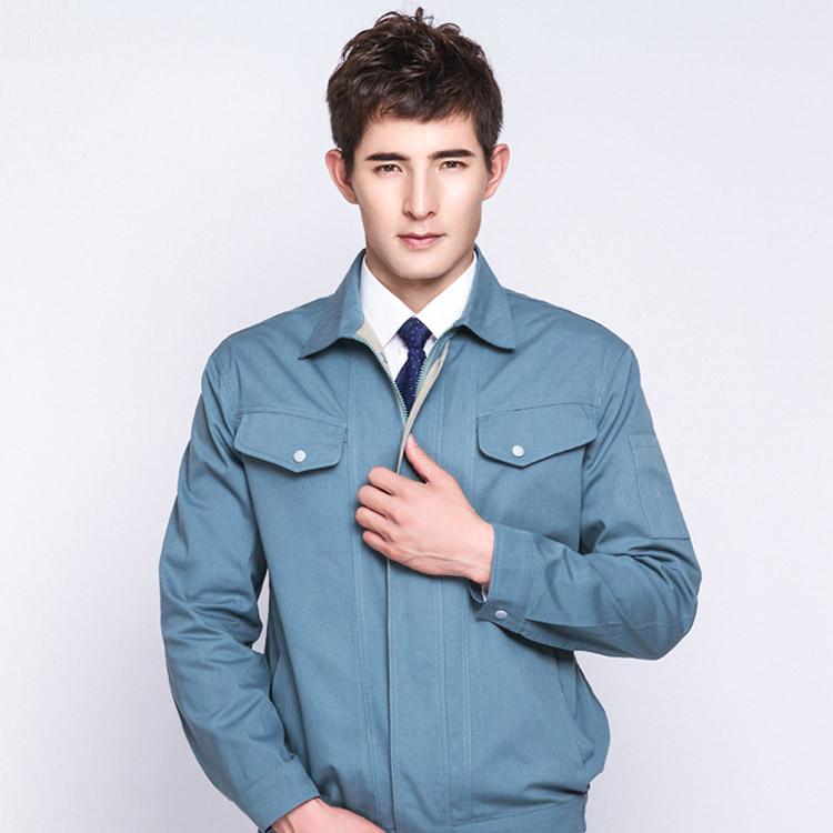 JC31OM7厚型涤棉帆布长袖工作服劳保服(套)