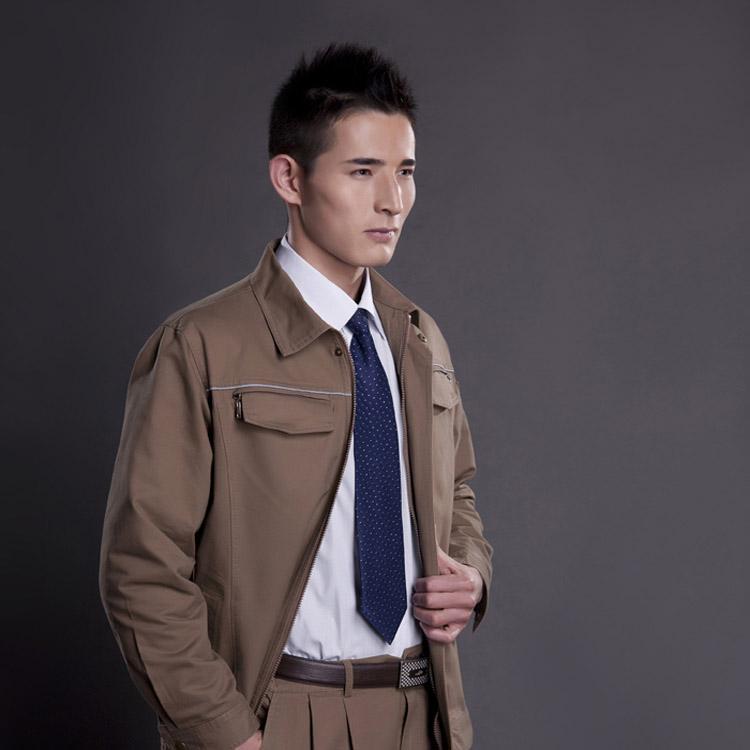 JC30OM9高档双层加厚型全棉长袖工作服劳保服(套)