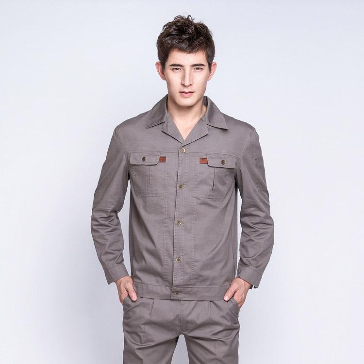 JC33OM1纯棉纱斜长袖工作服劳保服(套)