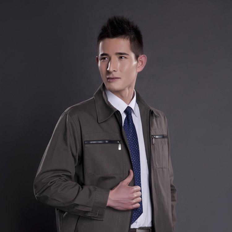 JC30OM7加厚型全棉长袖工作服劳保服(套)